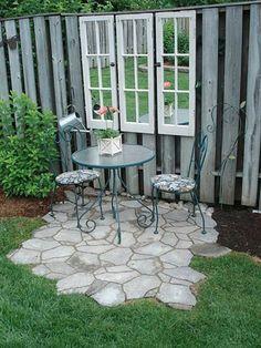 23 Easy-to-Make Ideas Building a Small Backyard Seating Area - Easy Diy Garden Projects Backyard Seating, Small Backyard Landscaping, Backyard Patio, Backyard Ideas, Landscaping Ideas, Patio Ideas, Fence Ideas, Modern Backyard, Large Backyard