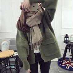 Open Front Knit Jacket - FR | YESSTYLE