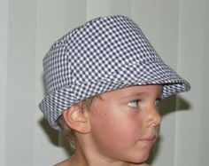 Fedora style hat pattern easy to sew PDF pattern oval brim not your usual bucket hat