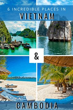 Discover some of the best destinations for your Vietnam and Cambodia travel itinerary. Backpacking South America, Backpacking Asia, South America Travel, Cambodia Beaches, Cambodia Travel, Thailand Travel, Thailand Destinations, Amazing Destinations, Visit Vietnam