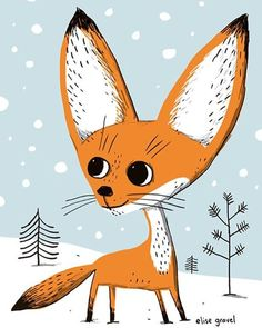 First snow here in Montreal! ❄️️ #fox #illustrationoftheday #drawing #snow #winter