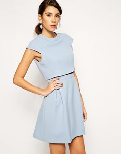 Asos Collection A Line Skater Dress With Double Layer And High Neck. Buy for $77 at Asos.