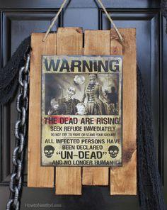 #DIY #Halloween #Zombie Warning. #tutorial