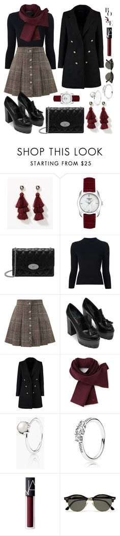 """""""66# Lady Avril."""" by claudiacalero16 ❤ liked on Polyvore featuring LOFT, Tissot, Mulberry, Alexander McQueen, WithChic, Boohoo, Lacoste, Pandora, NARS Cosmetics and Ray-Ban"""