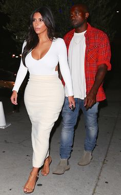 Dinner date! Kim Kardashian and Kanye West out together in L.A.
