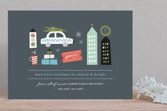 Holidays in the City Business Holiday Cards by Carolyn MacLaren at minted.com