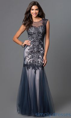 Shop long prom dresses and embroidered sheer mesh military ball gowns at Simply Dresses. Sweetheart mermaid evening gowns and pageant dresses.