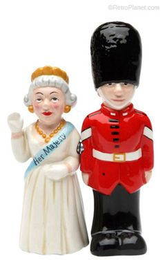 Queen and Guard Salt and Pepper Shaker