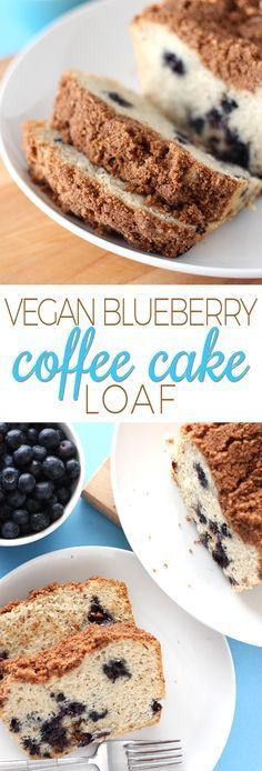 This easy vegan blueberry coffee cake is moist, fruity, and extremely delicious – it's the perfect breakfast or snack loaf!