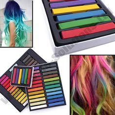 Haar Kreide Vorübergehende Haar Farbe Set Pastell Farben Salon Kit in Beauty & Gesundheit, Haarpflege, Färbemittel | eBay