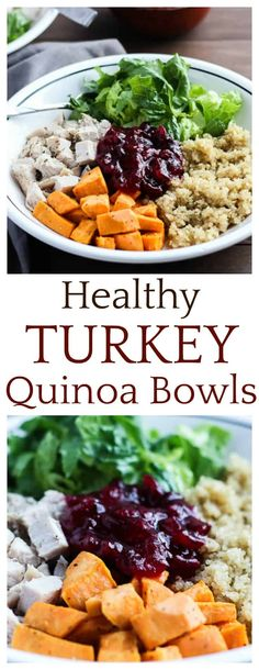 Healthy Turkey Quinoa Bowls