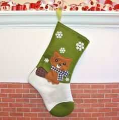 Beaver Christmas Stocking