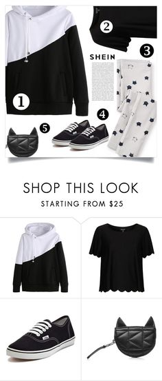 """""""Shein Hoodie"""" by tawnee-tnt ❤ liked on Polyvore featuring Tea Collection, Topshop, Vans, Karl Lagerfeld and Oris"""