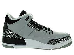 pretty nice 1197f 02a2c Amazon.com   Jordan Nike Mens Air 3 Retro Wolf Grey Metallic Silver-Black- White Leather Basketball Shoes Size 9.5   Basketball