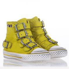 Flip Sneaker Yellow Canvas 312134
