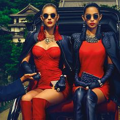 BLOGINVOGA: Guess Holiday 2014 | Megan Williams & Karmay Ngai by Chen Man http://www.fashion.net/today/