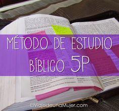 Hoy te propongo un método de estudio bíblico del que leía esta semana. Es el método 5P, llamado así porque consta en 5 pasos que c...