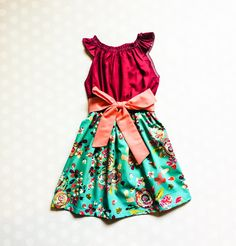 Teal Floral Dress - Spring Dresses for Girls - Easter Dress Girls Spring Dresses, Girls Easter Dresses, Baby Girl Dresses, Fall Dresses, Baby Dress, Vacation Dresses, Holiday Dresses, Teal, Trending Outfits