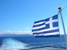 The #Greek flag - simply #blue and #white