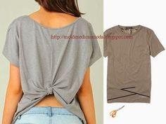 RECICLAGEM DE CAMISAS E T-SHIRTS - 2 ~ Moda e Dicas de Costura #DIY-Crafts