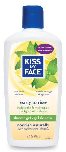 Kiss My Face Early to Rise Moisture Bath & Shower Gel, 16-Ounce Bottles (Pack of 3) Stimulating with Peppermint, Spearmint and Juniper. Aromatherapeutic.  #Kiss_My_Face #Beauty