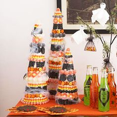 Halloween Candy Trees