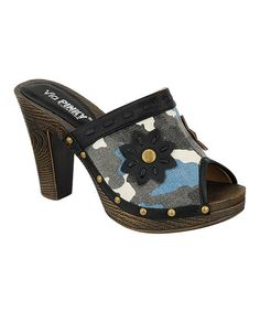 Another great find on #zulily! Black Floral Army Clog #zulilyfinds
