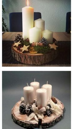 Christmas Candle Decorations, Scandinavian Christmas Decorations, Advent Candles, Christmas Tree Toppers, Cozy Christmas, All Things Christmas, Christmas Time, Christmas Wreaths, Christmas Ornaments