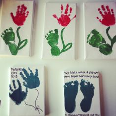 A cute idea for hand and feet prints! Made by Ryder, 1 year old • Art My Kid Made