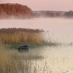 Morning fog Bounced off the waters Of the estuary And drifted amongst the reeds A single boat Lay tethered At its moorings Waiting in silence To come back to life © Caro Ness 2015 Beautiful World, Beautiful Places, Landscape Photography, Nature Photography, Nature Landscape, Beautiful Landscapes, Mists, Serenity, Scenery