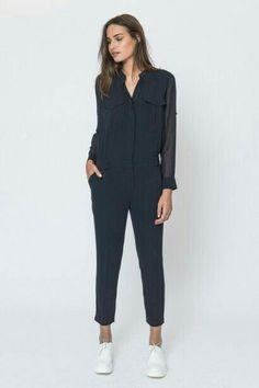 c55fea30185b Combinaison Femme Noire, Combi Pantalon Femme, Combinaisons, Couture, Tenue  Vestimentaire, Idee
