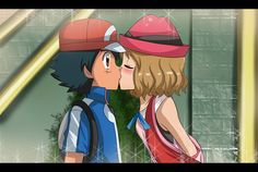 yeaaah finally I found time for post this drawing T__T inspired from an old episode of pokemon xyz amourshipping 4 ever! Pokemon Kalos, Ash Pokemon, Pokemon Ships, Cute Pokemon, Pokemon Couples, Anime Couples, Satoshi Pokemon, Pokemon Ash And Serena, Softies