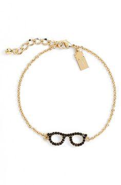 kate spade new york katespade new york'thingswe love- goreskiglasses' line bracelet available at #Nordstrom