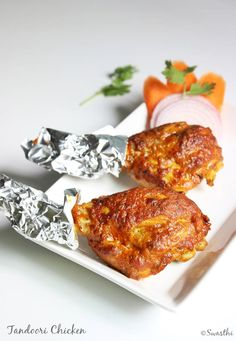 grilling in oven to make tandoori chicken indian recipe