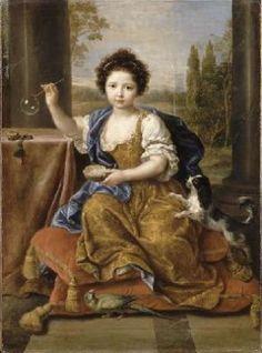 Louise Marie Anne de BOURBON °12-11-1674 +15-09-1681- (Née illégitimement,et en Janvier 1676 sa naissance a été légitimé) - (portrait,par Pierre Mignard 1680 2)