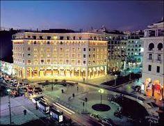 Thessaloniki by night-I was here! S`agapo Thessaloniki! Macedonia Greece, Athens Greece, Greece Thessaloniki, Myconos, Greek Beauty, Indoor Swimming Pools, Greece Islands, Palace Hotel, Greece Travel
