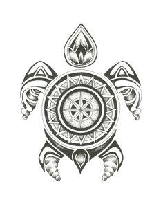 Pacific Turtle -Georgia Pikari #illustration #ink #unipin #art #sketch #tattoo…