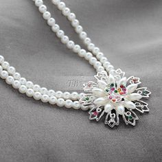 Glamorous Pearls Chain Alloy with Rhinestone Wedding Jewelry Set(Including Tiara,Necklace and Earrings)