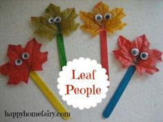 Leaf Puppets - 15 Fabulous Fall Leaf Crafts for Kids
