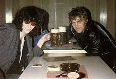 Ramones- Joey And Richie Ramone partaking...  on tour in  Belfast '85...
