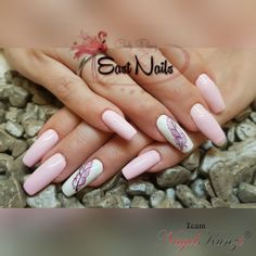 Fullcover-Nägel - Nails von East-Nails by Cindy - Nageldesign Nails, Ballerina, Wedding Gowns, Beauty, Pink, Gel Nails, Nail Studio, Eyelashes, Painting Art
