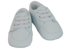 NEW  Sarah Louise Palest Blue Fabric Shoes with Stretch Laces $35.00