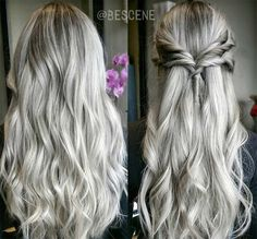 Silver long hair! - AboutWomanBeauty.com