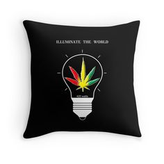"""Illuminate the World"" Throw Pillows by Samuel Sheats 