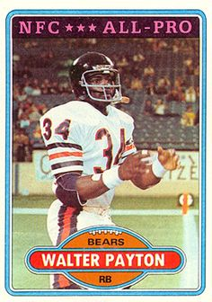 1980 Topps Walter Payton Chicago Bears Football Card for sale online Oakland Raiders Football, Nfl Football Players, Bears Football, Oregon Ducks Football, Notre Dame Football, Alabama Football, Nfl 49ers, Football Memorabilia, Football Uniforms