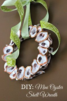 DIY Mini Oyster Shell Wreath | Oysters & Pearls
