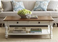 Newport Coffee Table - Find the Perfect Style! Refurbished Coffee Tables, Oak Coffee Table, Chair Side Table, Family Room Decorating, Decorating Coffee Tables, Colorful Furniture, Home Living Room, Decoration, Home Furniture