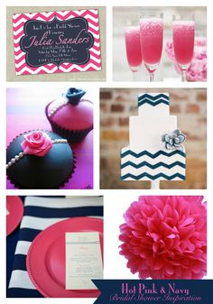 Haute Chocolate - Calgary Party Styling and Custom Party Decor: Hot Pink & Navy Bridal Shower Inspiration