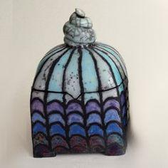 Blaue Keramik Dose