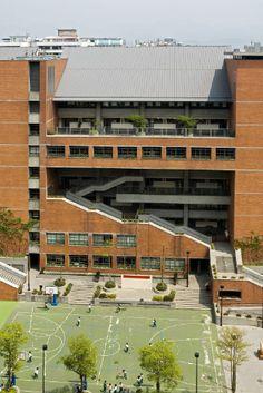 Fushin Primary School in Taipei (Taiwan) by Artech Inc #QUARTZZINC #QUARTZZINCPLUS #School #Architecture #Zinc #Project #VMZINC